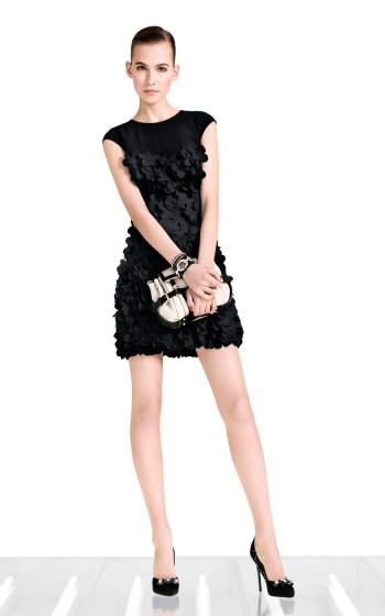 Retail-Laser-cut-petal-Dress-Dress-cocktail-formal-party-OL-evening-Dress-DN030-Free-Shipping