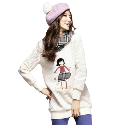 girls winter fashion warm sweater wholesale k1002790 White
